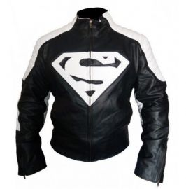 Handmade Men's Biker Superman Logo Jackets, Real Leather Jackets