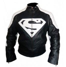 Handmade Men's Biker Superman Logo Jackets, Real Leather Jackets