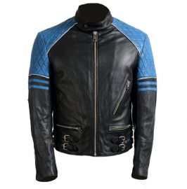 Handmade Men's Two Tone Biker Jackets, Real Leather Men Motorbike Jackets