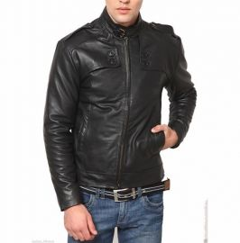 Handmade Men's Black Motorcycle Jackets, Real Leather Jackets