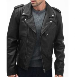 Handmade Men's Black Fashionable Collared Jackets, Real Leather Dress Jackets