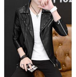 Handmade Mens Fashion Black Biker Jacket, Mens Black Studded Belted Jacket