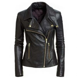 Women's Leather Jacket, Biker Leather Jacket, Black Leather Jacket Womens